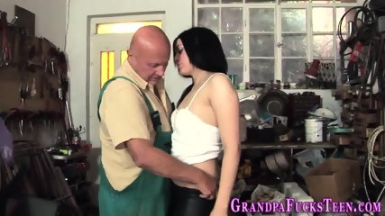 Teen rimmed by old perv