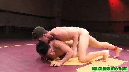 Asslicked wrestling jock jerking subs dick