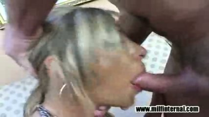Big tit MILF deepthroats well - scene 5