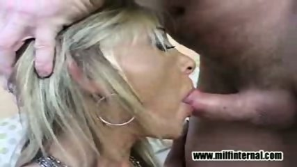 Big tit MILF deepthroats well - scene 7