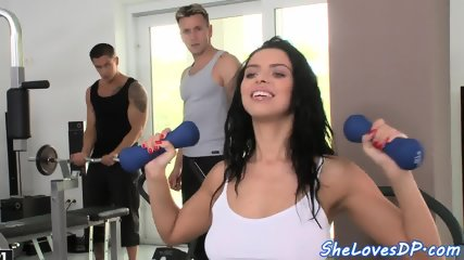 Hugetits euro double penetrated after bj - scene 3