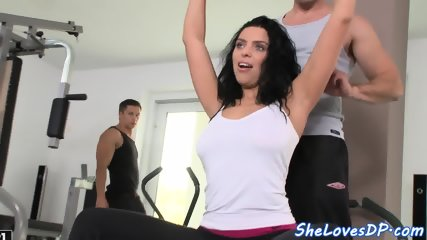 Hugetits euro double penetrated after bj - scene 4