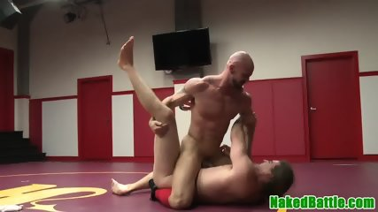 Dominating hunk fingering studs ass