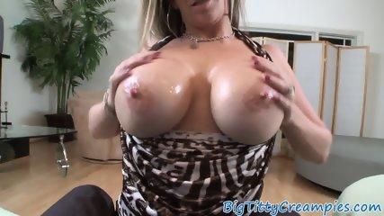 Faketit milf pov wanking dick with her boobs