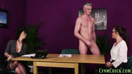 Cfnm mistress gets spunk