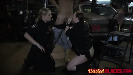 Busty cops drilled by black guy
