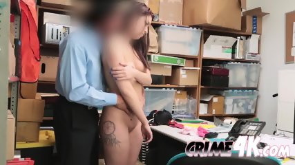 Security guard pounding naughty thief