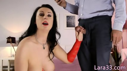 Classy UK milf in stockings fucked up her bum