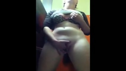 Chav bird fingers pussy and arse at work - young milf work mate goes to the loos