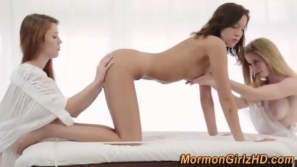 Lesbian mormon threesome