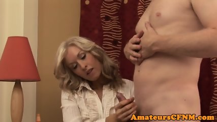 MILF babe enjoying CFNM fun in closeup - scene 9