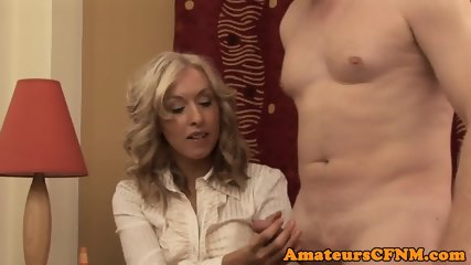 MILF babe enjoying CFNM fun in closeup - scene 5
