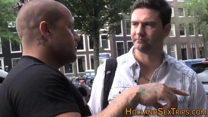 Dutch hooker guzzles cum