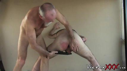 kinky fat guy pleasures himself and unloads white chowder