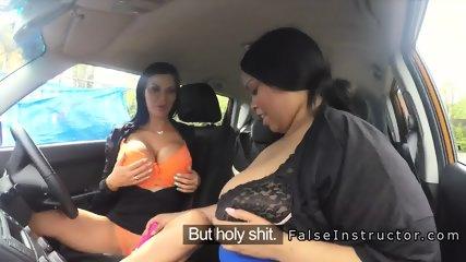 Black lesbian fat toys busty instructor