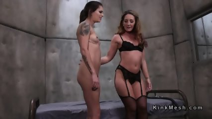 Lesbian cop anal punishes suspect