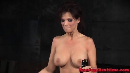 BDSM oral slave roughly spitroasted in trio - scene 9