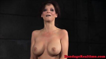 BDSM oral slave roughly spitroasted in trio - scene 10