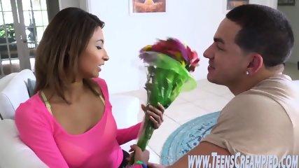Petite latina teen rammed