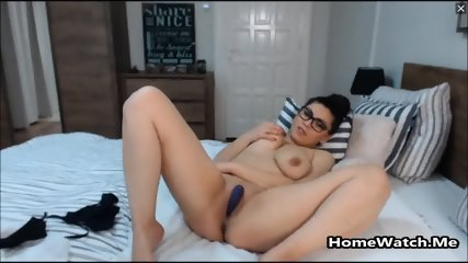 Naughty Schoolgirl Masturbating While Home Alone