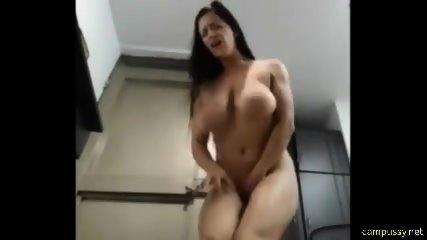 Hot girl has multiple orgasms on webcam
