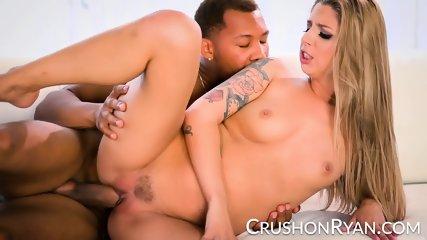 CrushGirls - Ryan Apologizes By Sucking His Big Black Cock