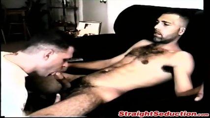 Kinky butt pirate enjoys sucking big fat hairy schlong