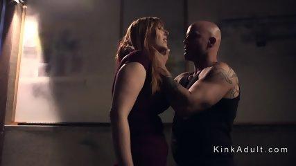 Gun trader ties up and fuck busty redhead