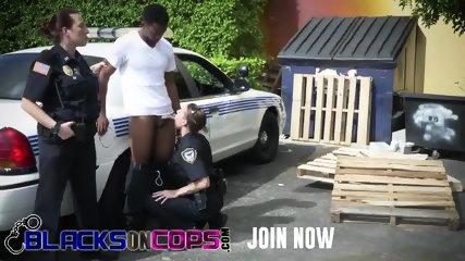 Black bull stuffing filthy police sluts like a madman