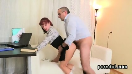 Fervent college girl gets seduced and banged by her older teacher