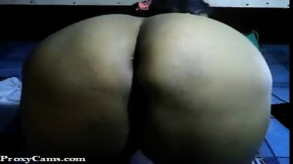 Big Ass Asian in position on webcam