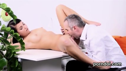 Fervid college girl is seduced and screwed by her older teacher - scene 9