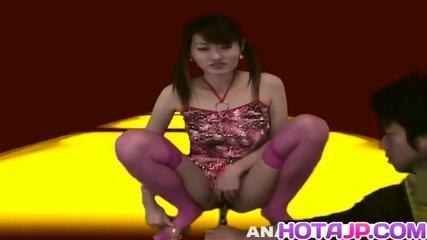 Asuka Kyono tries stiff toys down her greedy vagina