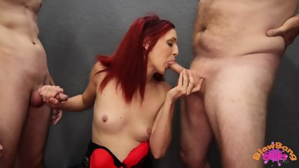 Redhead Bitch Sucks Cocks