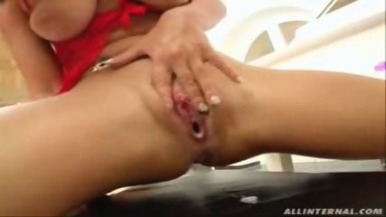 Dirty girls gets creamed up and lets it drip out. - scene 10
