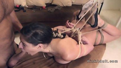 Dude pounds slave in different bondages