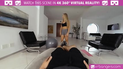 VR PORN - Nicole Aniston Personal Trainer Gets Fucked Hard and Deep Throats in the Gym