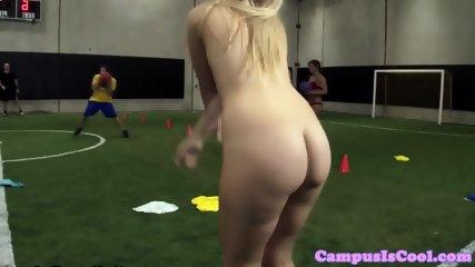 University sluts riding cock after practice