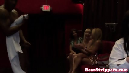 Glam wives licking cream on strippers dick