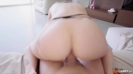 Horny Redhead Rides And Rubs Cock - scene 6