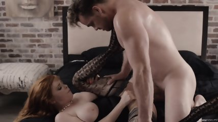 Redhead With Sexy Lingerie And Big Boobs - scene 9