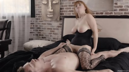 Redhead With Sexy Lingerie And Big Boobs - scene 10