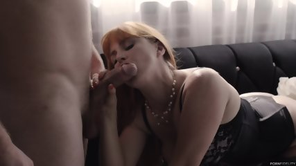 Redhead With Sexy Lingerie And Big Boobs - scene 3