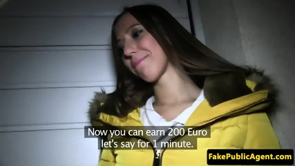 POV fucked czech babe cum drenched in public