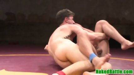 Wrestling gay masturbating after domination