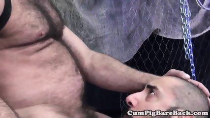 Tattooed chub bear fucked and jizzed on ass