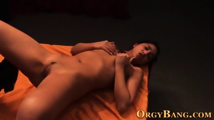 Smalltitted skank at orgy
