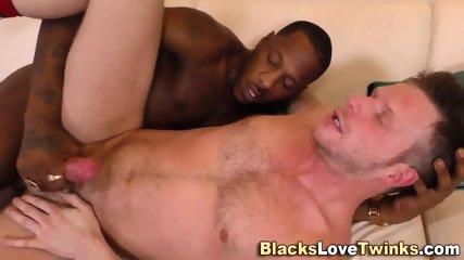 Ebony Hunk Cums In Mouth