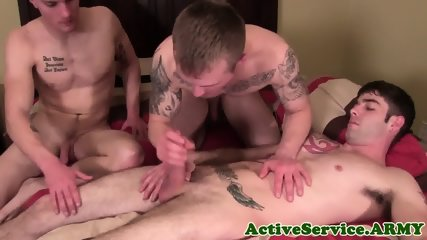 Inked Army Jocks Assfucking And Spilling Cum