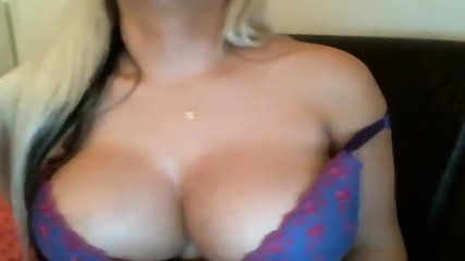Hot Busty Blonde Masturbating On Cam - scene 2